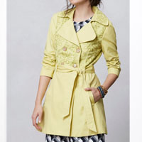 leiftsdottir yellow trench $268.00