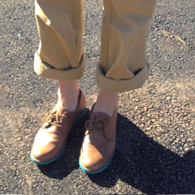 oxfords and khaki