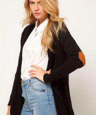 Cardigan heart patch elbow $43.99