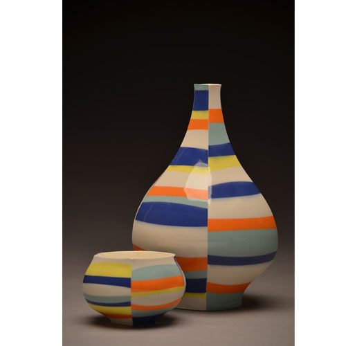 Peter Pincus decanter and cup