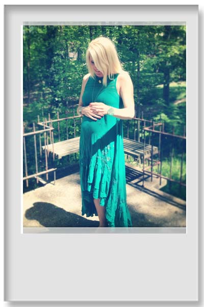 green free people dress